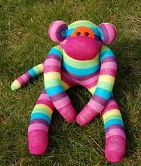 Sock Monkey -  Gummy (siansburys) Tags: uk cute toy monkey sock handmade unique quality etsy siansburys