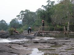 Building a bridge.