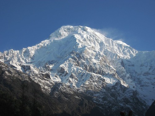 Annapurna South as seen from Chomrong
