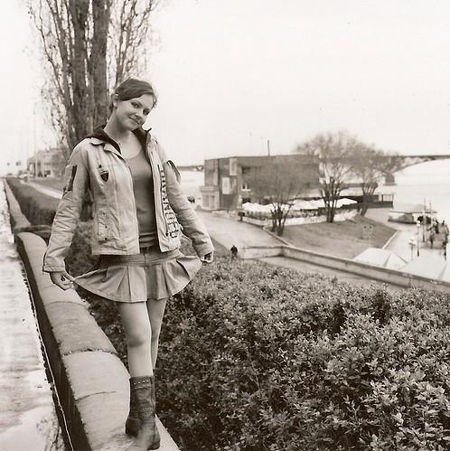 Nadya on the quay