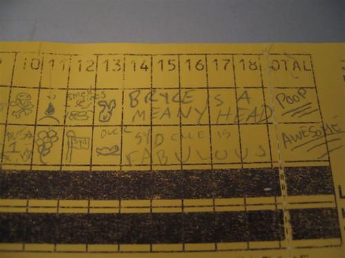 How Sydelle scores minigolf