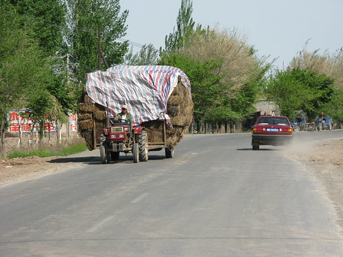 Overloaded near Chengji City, Xinjiang Province, China
