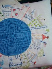 PORM.2 (rosaechocolat) Tags: houses embroidery swap algodo almofadas