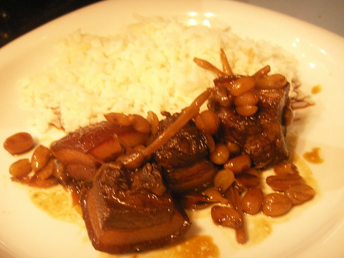 pork with lily buds and peanuts