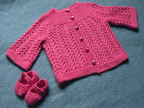 Pink February Baby Sweater FO