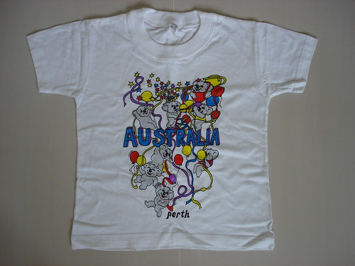 Brand New white T-shirt with prints (from Australia)-$9.90