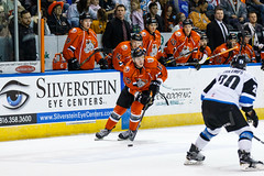 "Missouri Mavericks vs. Wichita Thunder, February 7, 2017, Silverstein Eye Centers Arena, Independence, Missouri.  Photo: John Howe / Howe Creative Photography • <a style=""font-size:0.8em;"" href=""http://www.flickr.com/photos/134016632@N02/31988710743/"" target=""_blank"">View on Flickr</a>"