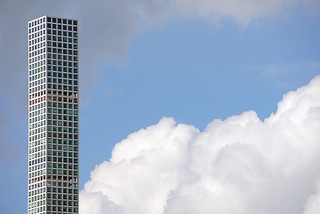 432 Park Avenue Skyscraper - view from Gantry Plaza State Park - Long Island City, Queens, NYC
