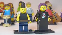 Gothic Archer & Mohawked Machetiest Brick Yourself Custom Lego Figure