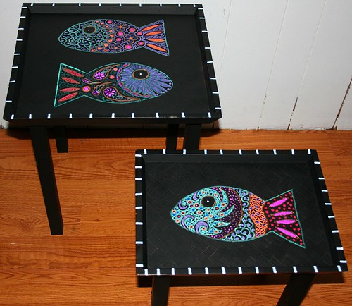 Accent/Nesting Tables by Rick Cheadle Art and Designs