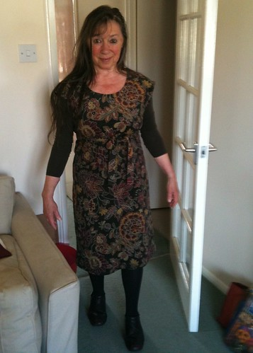 Mum in her handmade dress
