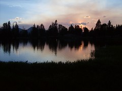24 Sunset back at Born Lake (philthy54) Tags: cloud white mountains fishing hiking idaho