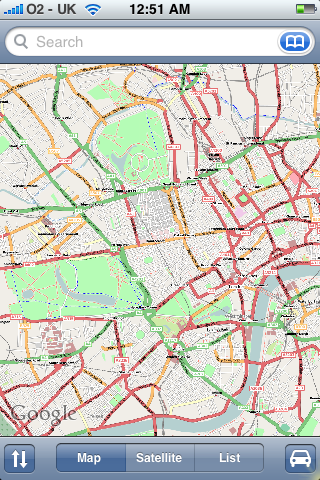 OSM Central London on the iPhone