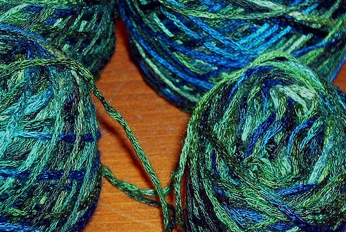 Undertow - 100% Bamboo Yarn Dyed for My Sister-in-Law