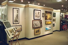my owosso artwalk exhibition (thetotemhunter) Tags: art archaeology nature pencil artwork wildlife paintings drawings exhibition artshow mythology coloredpencil natureart wildlifeart naturedrawings naturepaintings mythologyart archaeologyart