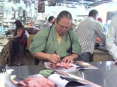 Morimoto signing my book 2