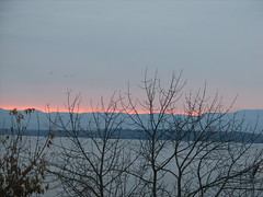 November dawn over Lake Champlain