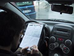 Il Lupo annota le sue impressioni a fine test-drive
