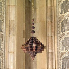 Copper lamp in portal, Hassan II Mosque (Frans Harren) Tags: building canon geotagged mosque powershot morocco g1 casablanca canonpowershot canonpowershotg1 powershotg1 geolocated
