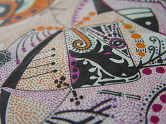 the second (smile 44) Tags: orange art love smile mexico grate pattern purple symbol magic abril violet happiness dot mexican april draw monada desing 2012 hinton paints magia   mexicanart mysticism monads  monad monism monismo hintonjennie transfotmation