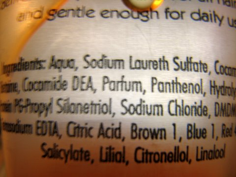 fearsome shampoo ingredients 051207