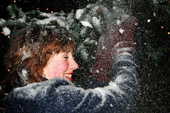 Snow!!! (jla ) Tags: snow tree girl beautiful smiling iceland europe snowy expression reykjavik falling