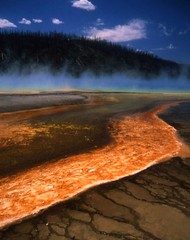 Yellowstone Geology, Mineral flow, Wyoming (moonjazz) Tags: travel blue wild favorite orange usa mist hot colour nature strange beauty danger wow wonderful wonder landscape flow nationalpark amazing interesting fantastic power treasure natural superb earth glory awesome great vivid science hike best steam odd master creation springs minerals mineral yellowstone wyoming geology wilderness pure liquid finest sulfer enegy