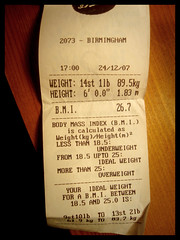 It's Official! (openbyhand) Tags: table birmingham boots christmaseve weight overweight bmi bodymassindex