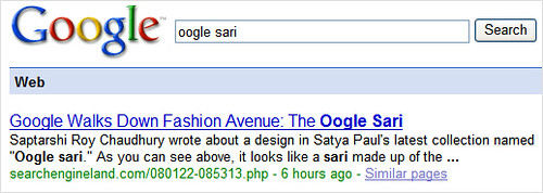 Google Universal Search: Freshness