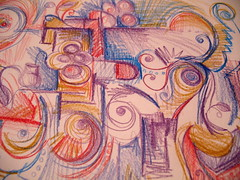 365drawings by me: #6. (artsy_T) Tags: abstract lines curves angles doodle swirls coloredpencil noreason watercolorpencil