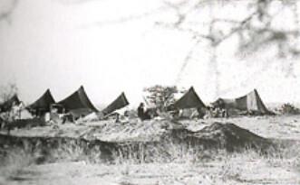 Avant la future Cité, campement de Kaïmas à Zouérate