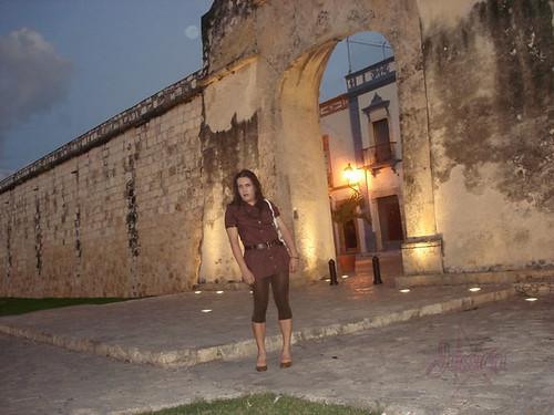 Jessica paseando en Campeche