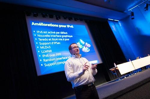 Arnault Lheureux en pleine session nouveautés réseaux Windows Server 2008