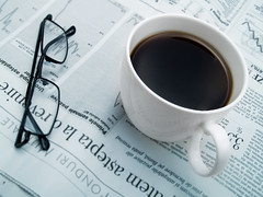 Coffee, glasses & newspaper (Benko Zsolt) Tags: morning white news hot cup coffee breakfast print glasses newspaper media drink coffeecup tasty daily communication business delicious article espresso taste eyeglasses wakeup caffeine press goodmorning information liquid publishing journalism wakingup publish aroma hotdrink opticalinstrument