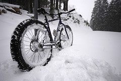 Snow ride (Big.Col) Tags: snow bavaria biking mtb pugsley surly tegernsee aueralm