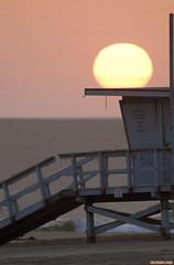 Tower60Tonight (mcshots) Tags: ocean california sunset sky usa sun tower beach water coast losangeles sand socal mcshots southbay lifeguardtower