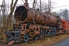 BX903 Steam Locomotive Hulk (listentoreason) Tags: usa america train canon rust technology unitedstates pennsylvania decay favorites places steam transportation locomotive newhope corrosion steamlocomotive rollingstock ef28135mmf3556isusm score30