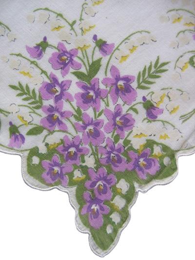 violet handkerchief