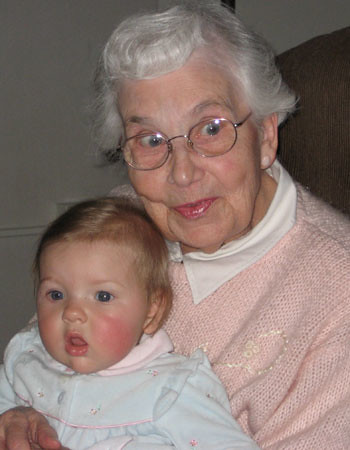 With Great Grandma Eva