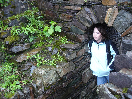 Kari explores the chapel grounds in Sneem.
