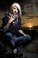Amanda Rude (grahamcase) Tags: sunset dj photoshoot flash flashphotography headphones sunsetbeach offcameraflash nikonsb24 amandarude