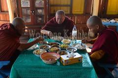 30098672 (wolfgangkaehler) Tags: asia asian southeastasia myanmar burma burmese inlelake taungtovillage villagelife villagescene village people person monastery monasteries buddhism buddhist buddhistmonk buddhistmonks buddhistmonastery buddhistmonasteries monk monks eating