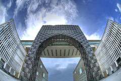 Perbadanan Putrajaya II (Firdaus Mahadi) Tags: building metal landscape landscapes architechture nikon scenery view flag flags fisheye pointofview views malaysia government putrajaya nikkor complex hdr highdynamicrange sceneries pemandangan besi bangunan bendera kompleks 3exposures perbadanan kerajaan kerajaanmalaysia affisheyenikkor105mmf28 perbadananputrajaya malaysiangovernment firdausmahadi firdaus