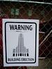 Erecting a Building (Amarand Agasi) Tags: columbus ohio building sign fence funny sean oh erection shortnorth erect erecting galleryhop amarand theamarand