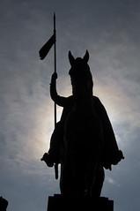 Wenceslas Monument (jugglin pete) Tags: horse silhouette statue prague wenceslassquare
