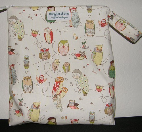 Wet Bag in Spotted Owl from Snuggles of Love