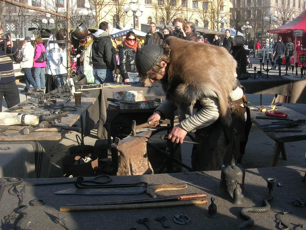 Medieval market in Stockholm, 2010 Apr - 9