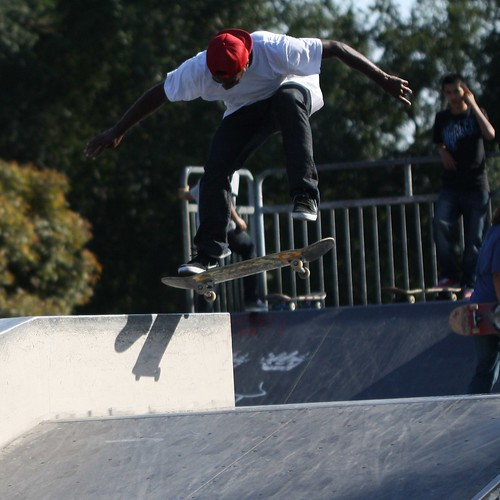 Skaters in Centinela Park