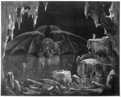 Diablo (Vampire Van Frank) Tags: by century comedy dante hell books divine engraving poet demon his inferno pensive to brooding icy winged divina 19th lair dore commedia gustave alighieri pisan 130721