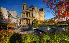 Fall Afternoon at Saint-Eustache Church (David Giral | davidgiralphoto.com) Tags: paris france fall church colors saint les eglise hdr halles chatelet eustache 3xp sigma1020 tthdr